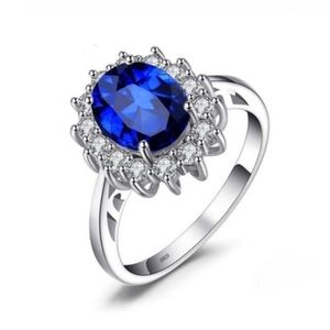 Sterling 2.6 CT Sapphire Ring